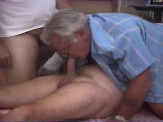 Threesomes elderly man