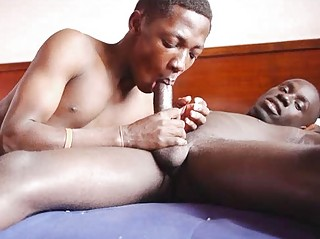 Gay African Mouth And Hands Hard At Sex Work