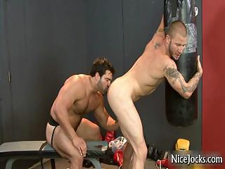 Hot jock gets assfucked at gym away from nicejocks