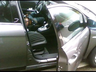 Flashed wean away from a couple of men in a car - by neurosiss