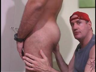 Coxcomb yon white-hot meekly sucks his cock and then licks his ass yon gay duo