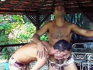 The mischievous clip features two husky looking gay Latinos hooking up...