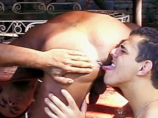 The clip disjointedly with two buffed gay Latinos showing missing their hard...