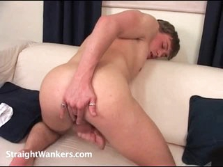 He gets turned on fingering his ass solo
