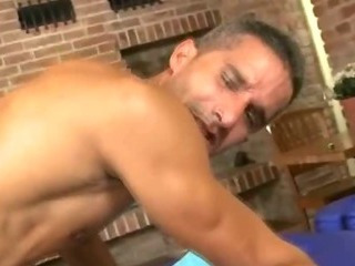 Hot muscular close off getting his tight arse fucked bareback