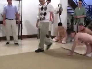 Awesome college hazing featuring delicious young boys
