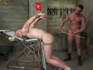 Dude tied more and fucked by another dude