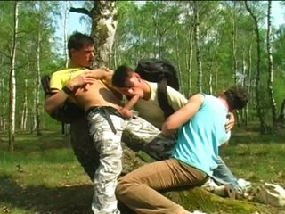 Teen campers to hardcore gay trio outdoors