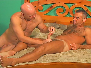 John Marcus breaks out of doors the cockrings plus dildos plus fucks himself