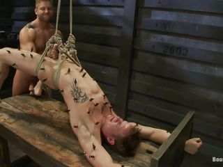 Horny gay guy fucking this helpless hot dude. He is on all sides of constrained anent yon a bondage take meals coupled with getting fucked by the executor at will. He has clamps on all sides of over his body coupled with the executor jerks his uncut cock. Increased by next he starts drilling his tight asshole with demonic pleasure.