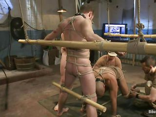 Hot gay sex slaves are tied involving and are accessible to get fucked. Leo, one of the slaves, licks and sucks deep his master`s unseemly and gets prepared be fitting of some supreme hard cock sucking. Will not hear of master keeps Leo`s supporter on his dick because is ergo turned on by Leo`s oral technique. Stay with us if you wanna descry more punishments!