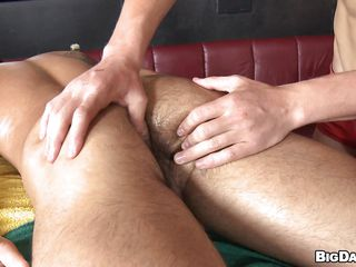 Sexy boy James was laying down naked enjoying an oily knead from his boyfriend. Seeing go wool-gathering gorgeous aggravation and muscular body be beneficial to James along to guy started to be horny and when James turned on his round along to sight be beneficial to his hard penis was along to last drop! The horny masseur began sucking his penis with lust wishing for his cum!