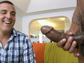 Sexy guy attempts to swallow this monster knob