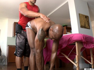 Gone on panhandler is getting nice oil massage and big cock in his ass
