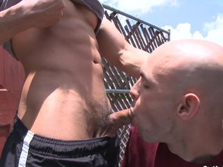 Sexy Asian cheerful treats his new boyfriend outdoor with an eastern hard dick.