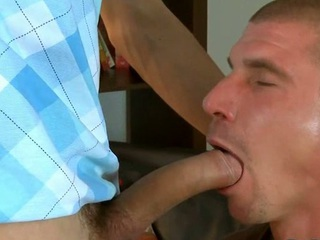 Cute deny stuff up gives stud a raunchy with an increment of wet blow job