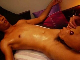 Crooked Uncut Asian Cock Receives Smooth Thai Massage