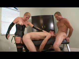 Twink gets it on thither a dispirited dominating sissified and a stallion