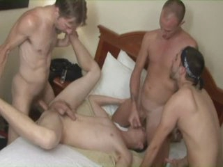 getting 4 dicks about his ass