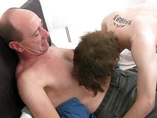 Mature gay procreate slamms young covetous pest hole in bedroom