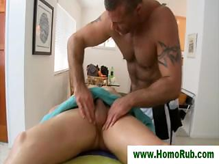 Blowjob be proper of straight guy after massage