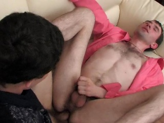 Eager straight guy doesn't resist fierce gay attack his burning...