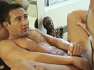 Two hard bodied gay bears Michael Field of vision and Lee Casey were hired to...