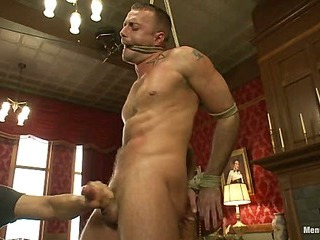 Porn superstar Jessie Colter gets bound, gagged and edged unconfirmed he begs to cum.