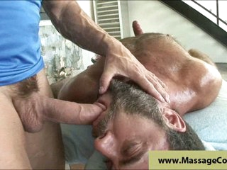 Mature massage with cock sucking