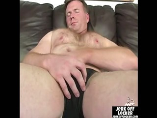 Mature guy loves down play with his cock