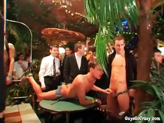 Cocksucking gets this gay party started right