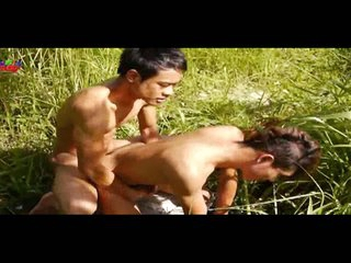 A handful of asian boys fucking outdoors