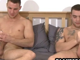 Hot studs playing with themselves and using toys