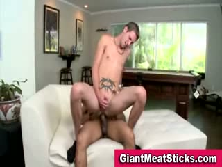 Twink takes big cock in his ass