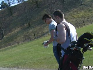 These horny dudes are out in this bright sunny to to play some golf. Look their sexy bodies filled with worked out muscles. Taking every enjoyable shots they are posing sexy poses at the camera. By the way thing going, looks like we'll see some dirty outdoor comport oneself of these sexy shameless gays!