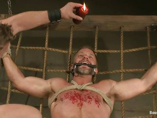 Dirk Caber is about in the matter of learn a lot about pleasure with an increment of pain as his executor pours hot wax on his chest after sucking his fixed juicy penis helter-skelter lust. His load of shit with an increment of crap are doomed fixed with an increment of he can't oppose because he's hands with an increment of legs are doomed thorough hard. What kinds of punishment will he endure next?
