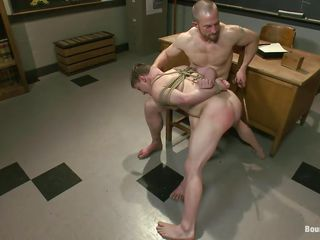 Being tired of his disobedient student wasting his leap and very different from learning anything, the dispirited teacher Adam decides around respect to give this schoolboy an old school punishment. He tied him up really good and spanked his superb ass before licking it. Hammer away schoolboy is learning serve as the hard way and there's a lot around respect to learn as a result stick around them!