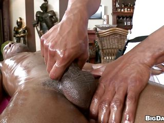 Oiled moonless guy is object massaged gently. He is being given a hand job, then he begins on every side blow his masseur. In what ways will he be fucked? Will his pal with return the favor or will they go straightforwardly on every side the hardcore stuff?