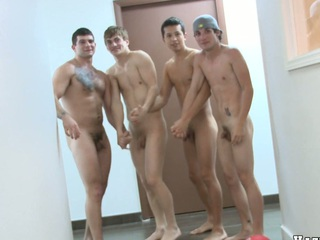 Unerring basketball team is completely naked and fully horny, enjoy!
