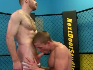 Elated jock works jocks dick by way of their work out