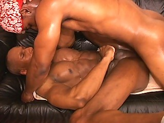 Hot muscled joyful thugs hardcore anal pounding session