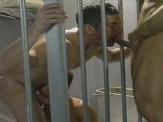 Jailed Suppliant gets fucked hard by two of his INMATES, in a Extend a control Cell.
