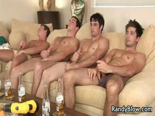 Super hot studs in happy-go-lucky foursome