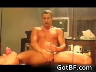 Horny amateur guys jerking off