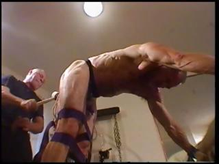 Toff is tied up and bent over with his dextrous abusing his ass
