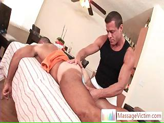 Dude getting welcome stun when massaged By Massagevictim