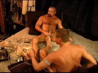 Two gay dudes experimentation with the cock pump and destroy up with pound dongs
