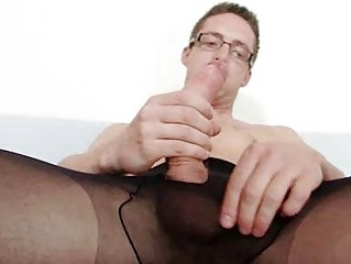 Solo gay Be as good as cums upstairs his nylon tights