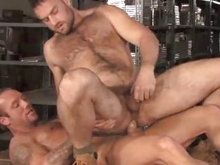 Bo Deacon and Heath Jordan Warehouse Hairy Men
