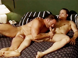 Gym studs suck each others hard cocks before fucking far the locker...